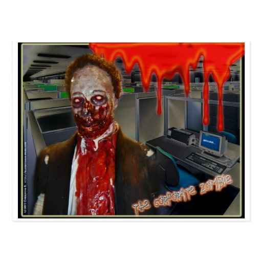 The Corporate Zombie Post Cards