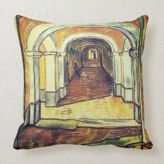 The Corridor - Vincent Van Gogh Throw Pillow
