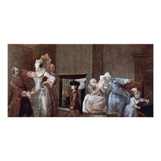 The Corset,  By Hogarth William (Best Quality) Customised Photo Card
