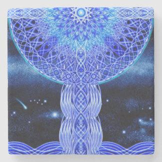 The Cosmic Cross Stone Beverage Coaster