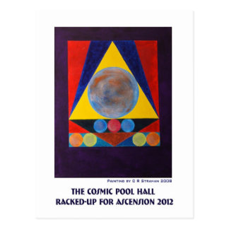The Cosmic Pool Hall Racked-Up for Ascension 2012 Postcard