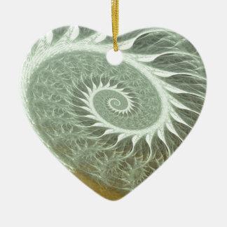 The Cosmic Spiral - Sacred Geometry Golden Spiral Ceramic Ornament
