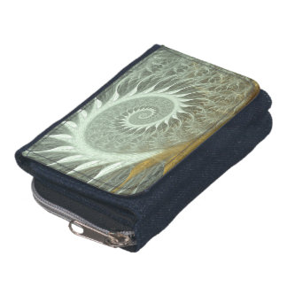 The Cosmic Spiral - Sacred Geometry Golden Spiral Wallet