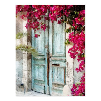 The Cottage Door Postcard