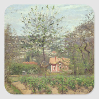 The Cottage, or the Pink House Square Sticker