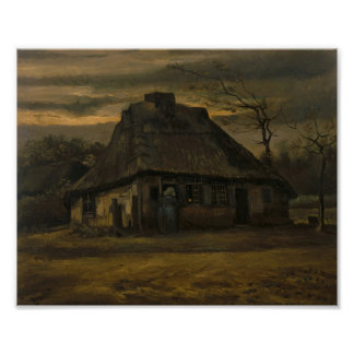 The Cottage, Van Gogh Fine Art Poster