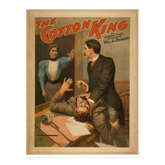 The Cotton King Vintage Theater Post Card