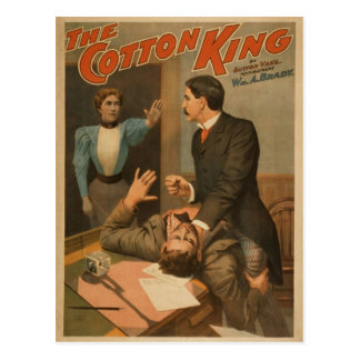 The Cotton King Vintage Theater Postcards