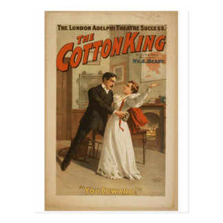 The Cotton King, 'You Coward!' Retro Theater Postcards