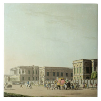 The Council House, Calcutta, plate 29 from 'Orient Large Square Tile