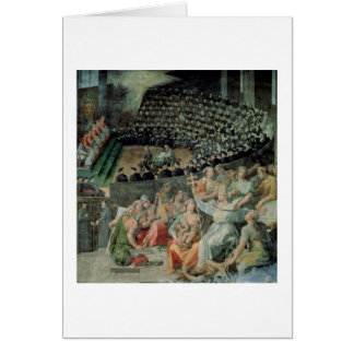 The Council of Trent, 1588-89 (fresco) Greeting Card
