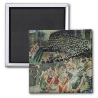 The Council of Trent, 1588-89 (fresco) Square Magnet