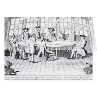 The Council of War in 1756 Card