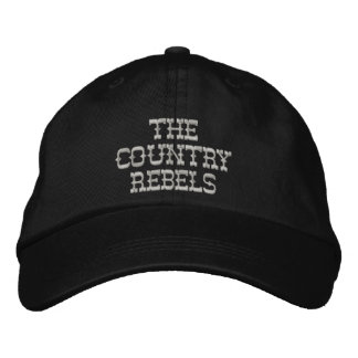 The Country Rebels adjustable hat 2 Embroidered Baseball Cap