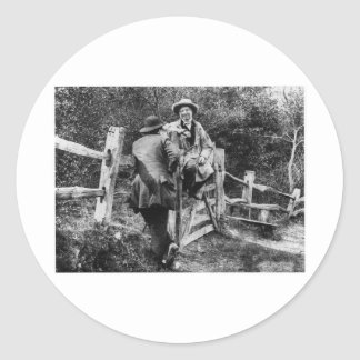 The Country Stile ~ Vintage 1859 Daguerre Photo Round Stickers