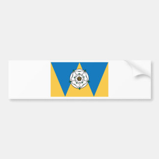 The County Flag of West Yorkshire Bumper Sticker