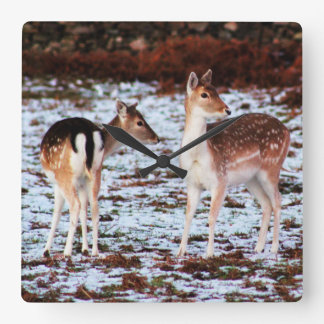 The Couple (deer) Square Wall Clock