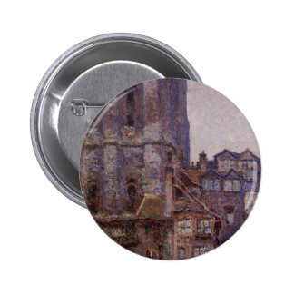 The Cour d'Albane, Grey Weather by Claude Monet 6 Cm Round Badge