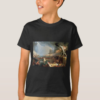 The Course of Empire: Destruction by Thomas Cole T-Shirt
