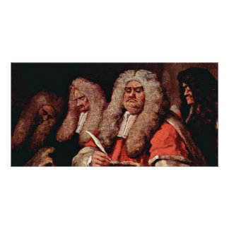 The Court By Hogarth, William (Best Quality) Customised Photo Card