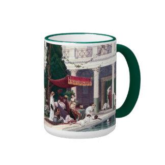 The Court of a Roman House Ringer Mug