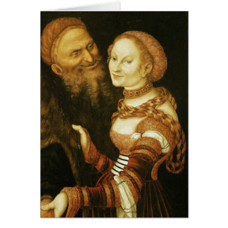 The Courtesan and the Old Man, c.1530 Card