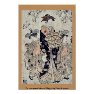 The courtesan Chōzan of Chōjiya by Torii, Kiyonaga Poster