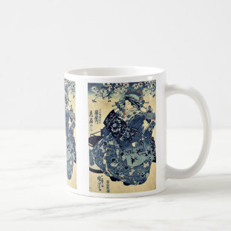 The courtesan Hanao of Ogiya by Utagawa,Kuniyoshi Coffee Mug