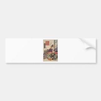 The Courtesan Tamagawa of the Maruebiya House Bumper Sticker