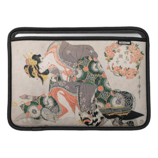 The Courtesan with cat  Kitagawa Utamaro geisha Sleeve For MacBook Air