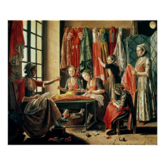 The Couturier s workshop Arles 1760 Poster