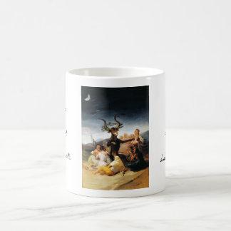 The Coven Francisco José de Goya masterpiece paint Basic White Mug