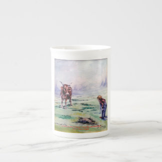 The cow and the boy/The cow and the I go Bone China Mug