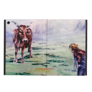 The cow and the boy/The cow and the I go Case For iPad Air