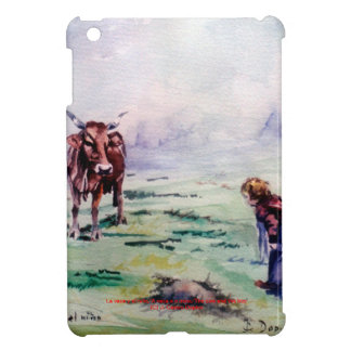 The cow and the boy/The cow and the I go Cover For The iPad Mini