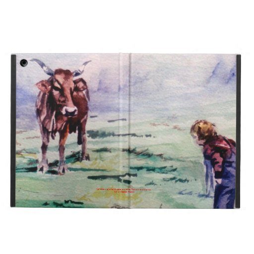 The cow and the boy/The cow and the I go iPad Air Cases