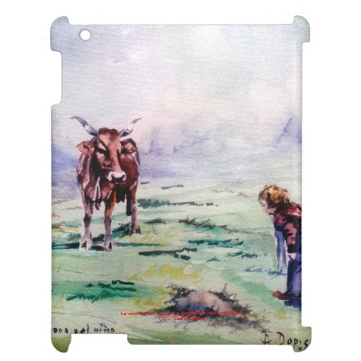 The cow and the boy/The cow and the I go iPad Cover