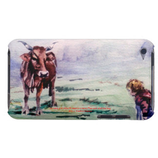 The cow and the boy/The cow and the I go iPod Touch Case-Mate Case