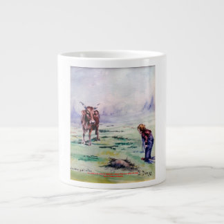 The cow and the boy/The cow and the I go Jumbo Mug