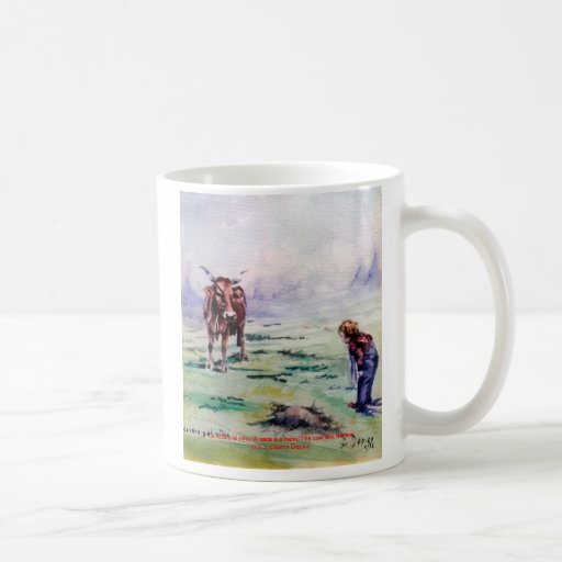 The cow and the boy/The cow and the I go Coffee Mugs