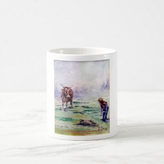 The cow and the boy/The cow and the I go Mug