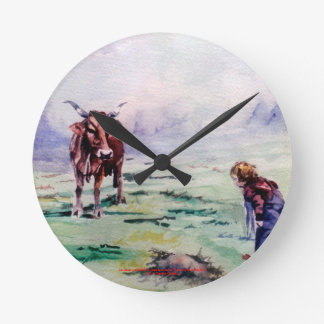 The cow and the boy/The cow and the I go Wallclocks