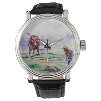 The cow and the boy/The cow and the I go Wrist Watch