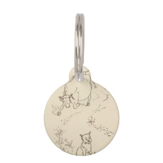 """""""THE COW AND THE DOG"""" PET NAME TAG"""