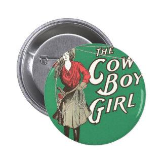 The Cow Boy Girl - Vintage 6 Cm Round Badge