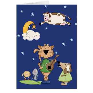 The Cow Jumped Over the Moon Card Cards