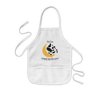 The cow jumped over the moon cute kids apron
