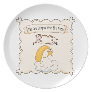 The Cow jumped over the moon Kids Plate