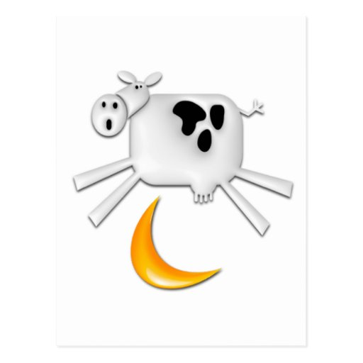 The Cow Jumped Over the Moon Postcards