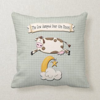 The Cow Jumped Over the Moon Throw Cushions